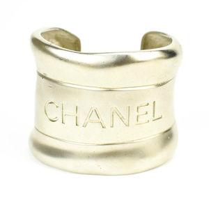 Chanel Silver Metal & Logo Cuff / Bracelet